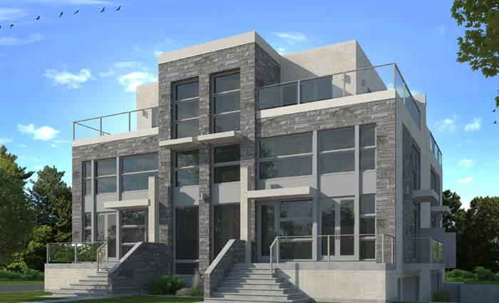 architecture de multi logements par j dagenais architecte. Black Bedroom Furniture Sets. Home Design Ideas